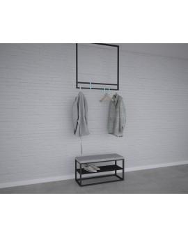 wieszak metalowy sufitowy rama kwadrat No11