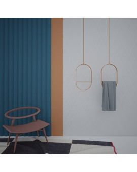 Metal ceiling hanger rounded