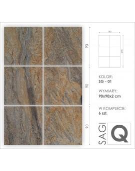 Formatierte Granitplatte 90x90x2 cm